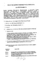 Szegvári Közös Önkormányzati Hivatal alapító határozat
